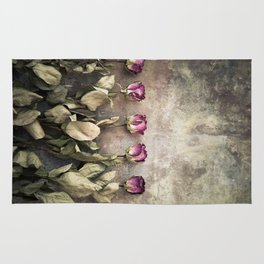 Five dried roses Rug