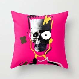 No.1 - Beauty isn't only skin deep / b-ART / PINK Throw Pillow