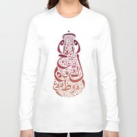 arabic Long Sleeve T-shirts featuring Arabic typography by Areej