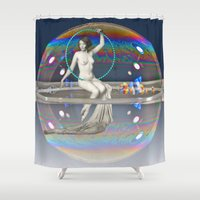 bath Shower Curtains featuring Bath Time by mentalembellisher