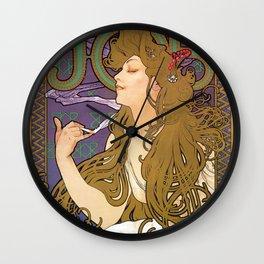 Alfons Maria Mucha - Job 1896 - Digital Remastered Edition Wall Clock