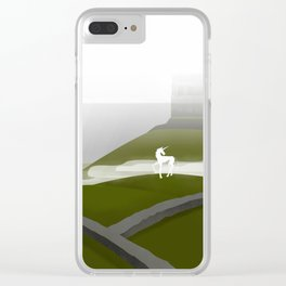 Creatures of the North: Unicorn Clear iPhone Case
