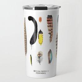 British Birds: Feathers Travel Mug