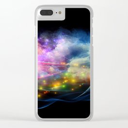 Abstract Textile Art - 3 Clear iPhone Case