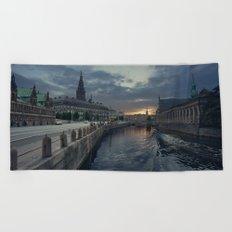 Copenhagen Canal Beach Towel