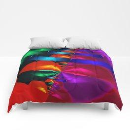 a fractal colormix Comforters