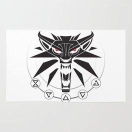 School of the Wolf - Black Rug