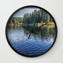 Rippled Reflections on Clear Lake Wall Clock