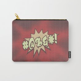 Mild profanity RETRO RED / Cartoonish anger Carry-All Pouch