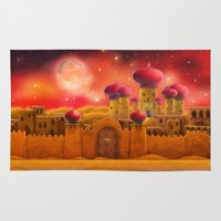 aladdin Area & Throw Rugs featuring Aladdin castle by Tatyana Adzhaliyska