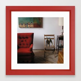 red chair Framed Art Print