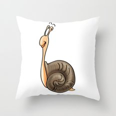b Is For . . . Snail In The Animal Alphabet Throw Pillow