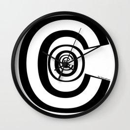 C*CK LOGO Wall Clock
