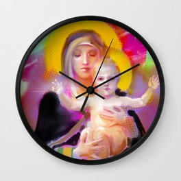 Our Lady Luminescence  Wall Clock