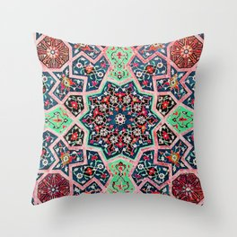 V16 Special Colored Traditional Moroccan Design. Throw Pillow