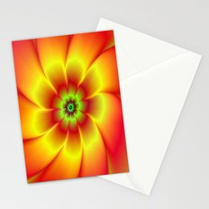 Red Yellow Green and Orange Flower Stationery Cards