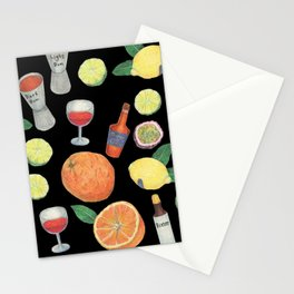 party time_ black Stationery Cards