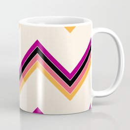 Colorful Abstract Surfing Summer Retro Stripes Pattern Epona Coffee Mug