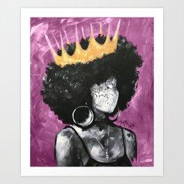 Naturally Queen II Pink Art Print