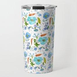 Blue Florals Travel Mug