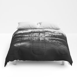 Ripple (Black and White) Comforters