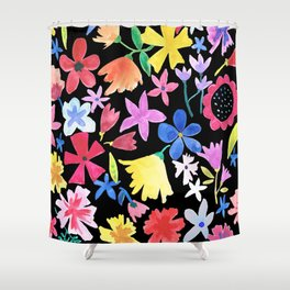 Spring extreme Black Shower Curtain