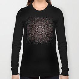 Elegant rose gold mandala confetti design Long Sleeve T-shirt