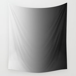 White to Black Vertical Linear Gradient Wall Tapestry