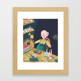 Big friendly chum. Framed Art Print
