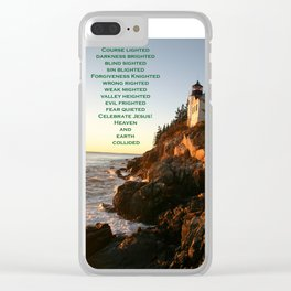 Maine lighthouse Clear iPhone Case