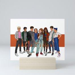 SKAM side lgbtq+ characters Mini Art Print