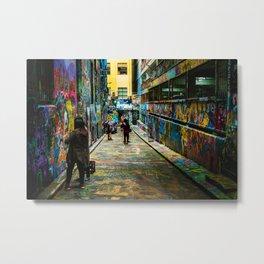Street art lane Metal Print