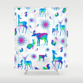 Christmas Creatures Shower Curtain