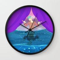 future Wall Clocks featuring Future by John-Ace