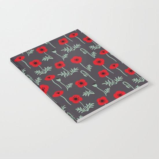 Red poppy flower pattern by ojardin