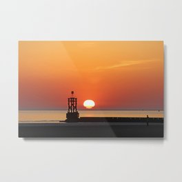 Sinking into the sea Metal Print