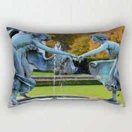 Dancing Nymphs - Den Brandt Castle - Antwerp Rectangular Pillow