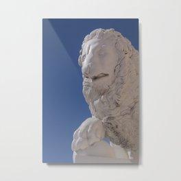 sun Peterhof  stone lion Metal Print