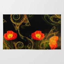 Decorative poppy Rug