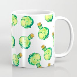 Green Watercolor Bottles (Tossed Pattern) Coffee Mug