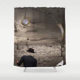 Time is running Shower Curtain