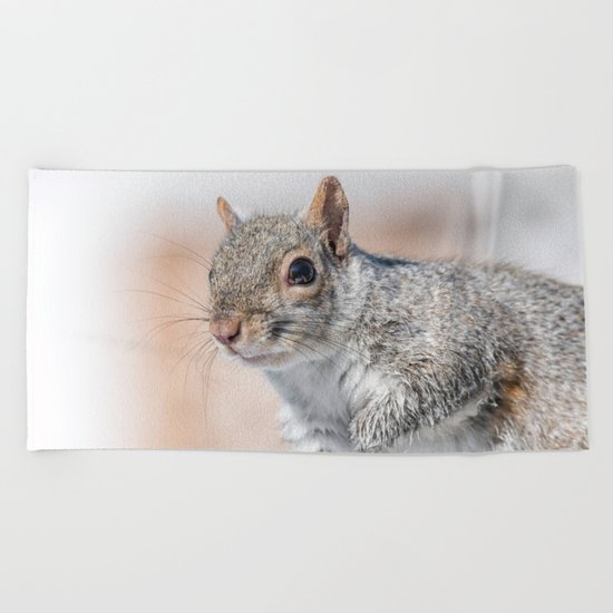 Wet paw Squirrel Beach Towel