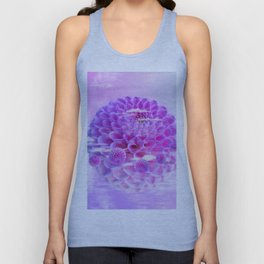 Purple Dahlia Unisex Tank Top