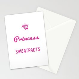 This Princess Wears Sweatpants Graphic T-shirt Stationery Cards
