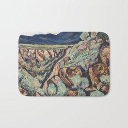 New Mexico Landscape by Marsden Hartley Bath Mat