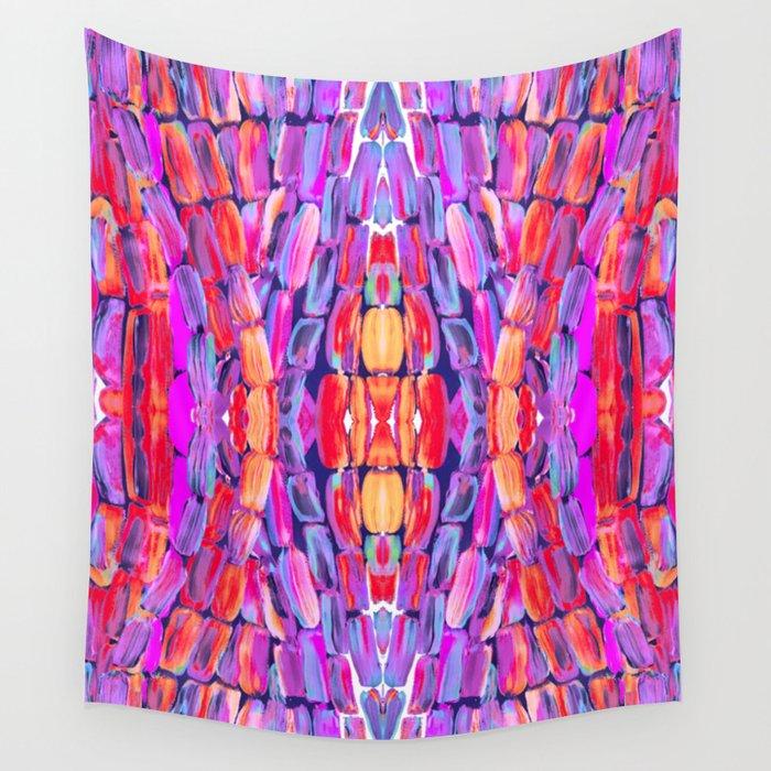 Ultraviolet Purple Sugarcane Pattern Wall Tapestry