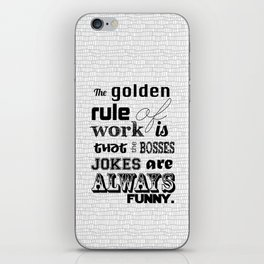 Golden Rules iPhone Skin