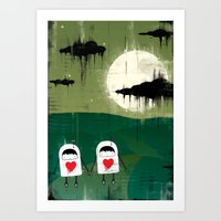 The little robots with sad hearts - the way Art Print
