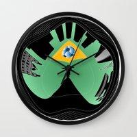 rio de janeiro Wall Clocks featuring Rio de Janeiro by siloto