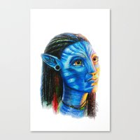 avatar Canvas Prints featuring Avatar by Aoife Rooney Art